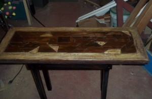 Scrap-wood Sofa Table