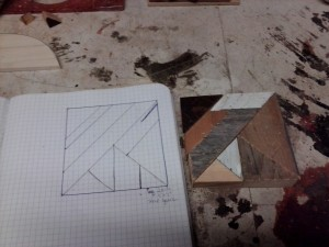 graph paper template and a square